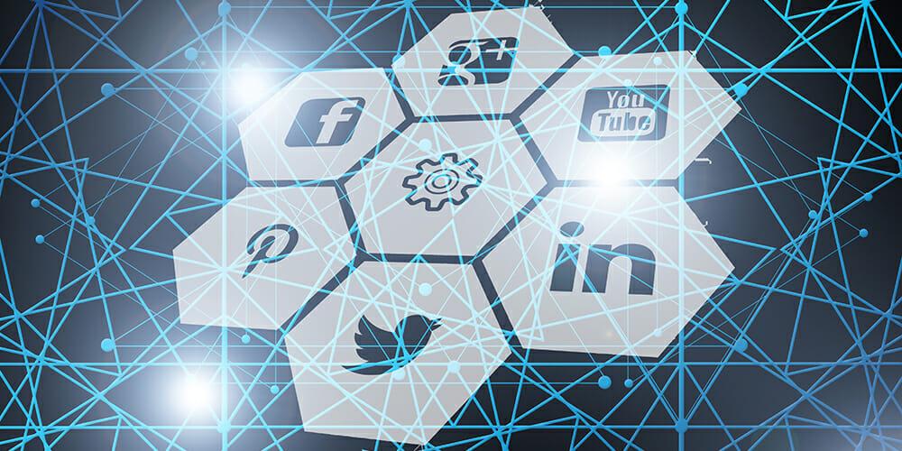 Open Graph hexa közösségi média logók