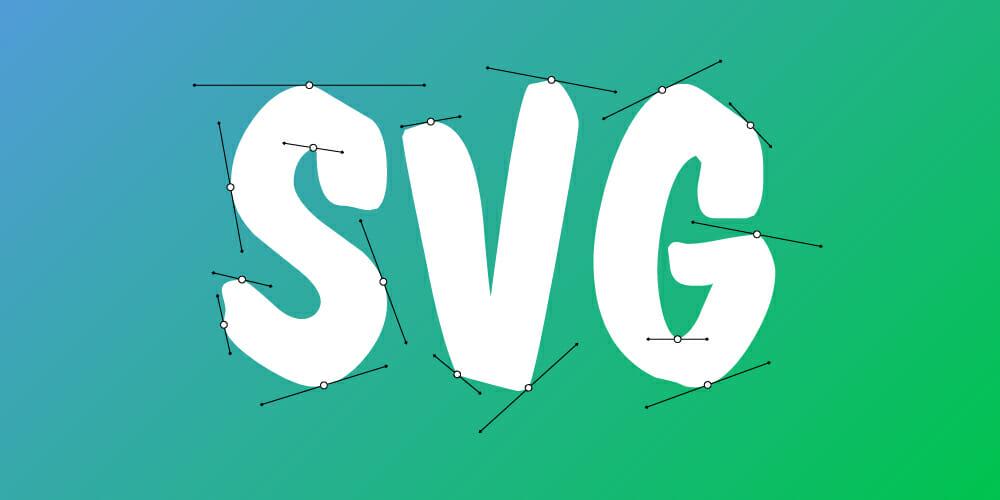 SVG szó Béziér görbékkel