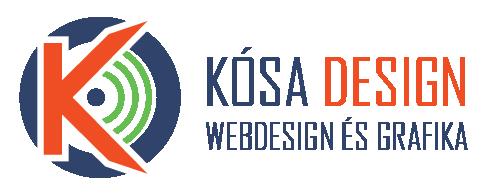 Kósa Design logó Webdesign és Grafika felirattal